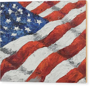 Old Glory II Wood Print