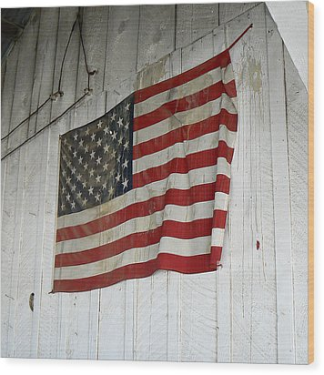 Old Glory Wood Print by Laurel Powell