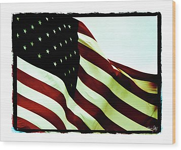 Old Glory Wood Print by Scott Pellegrin