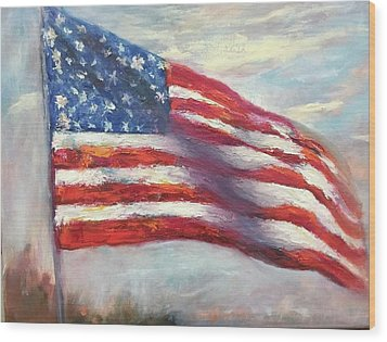 Old Glory Vi Wood Print