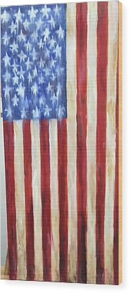 Old Glory Vii Wood Print