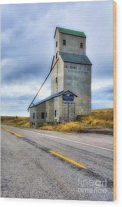 Old Grain Elevator In Idaho Wood Print by Mel Steinhauer