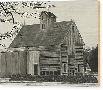Old Grainery Wood Print by Bryan Baumeister