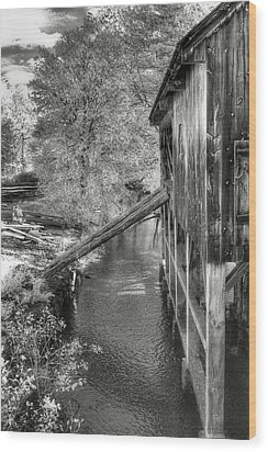 Old Grist Mill Wood Print by Joann Vitali