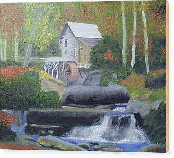 Old Grist Mill Wood Print by John Smith
