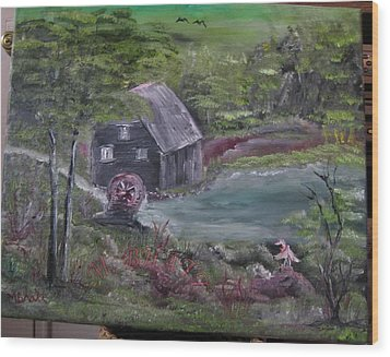 Old Grist Mill Wood Print by M Bhatt
