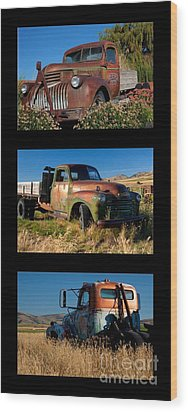 Old Guys Trio 4 Wood Print by Idaho Scenic Images Linda Lantzy