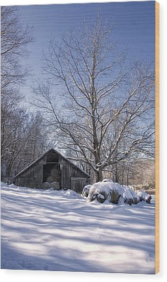 Wood Print featuring the photograph Old Hay Barn Boxley Valley by Michael Dougherty
