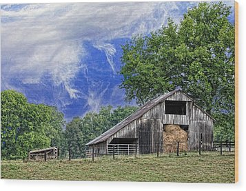 Old Hay Barn Wood Print by Jan Amiss Photography