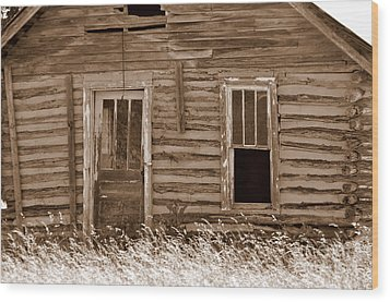 Old Home In The Ozarks Wood Print by Marty Koch