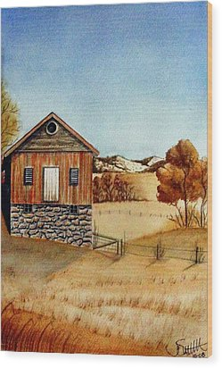 Old Homestead Wood Print by Jimmy Smith