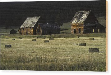 Old Homestead-potomac Montana Wood Print by Thomas Schoeller