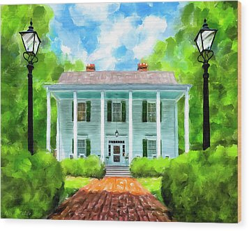 Wood Print featuring the mixed media Old Homestead - Smith Plantation - Roswell Georgia by Mark Tisdale