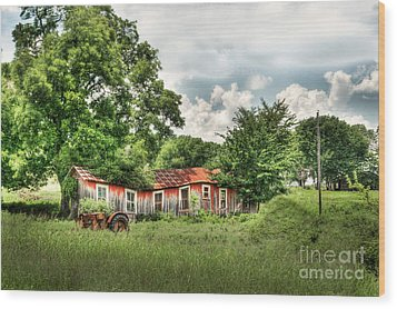 Old Homestead Wood Print by Tamyra Ayles