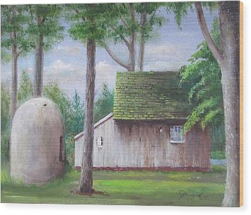 Old House And Oven Wood Print by Oz Freedgood