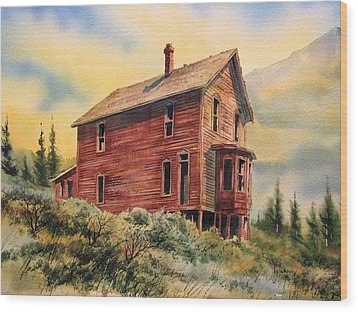 Old House Animas Forks Colorado Wood Print by Kevin Heaney