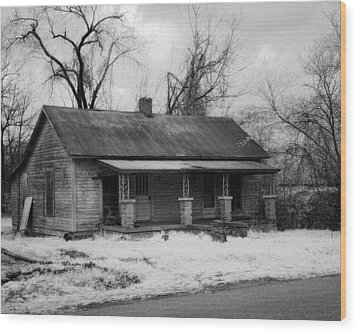 Old House Wood Print by Fred Baird