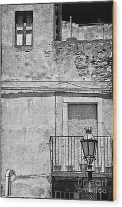 Old House In Taormina Sicily Wood Print