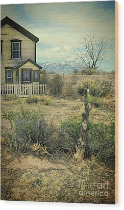 Wood Print featuring the photograph Old House Near Mountians by Jill Battaglia