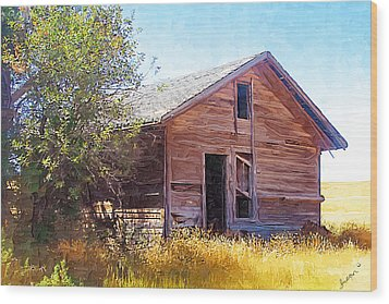 Wood Print featuring the photograph Old House by Susan Kinney