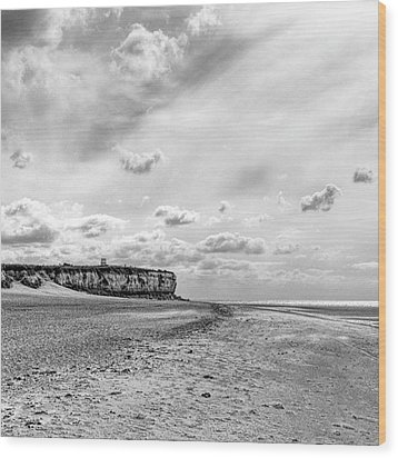 Old Hunstanton Beach, Norfolk Wood Print by John Edwards