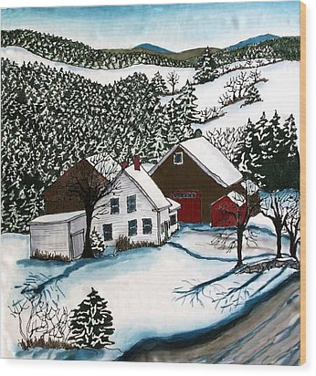 Old Hutchinson Place Wood Print by Linda Marcille