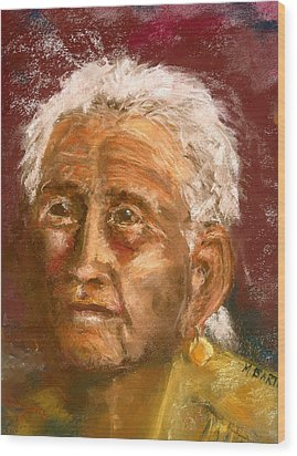 Old Indian Wood Print by Marilyn Barton
