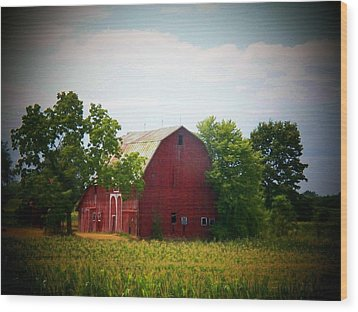 Old Indiana Barn Wood Print