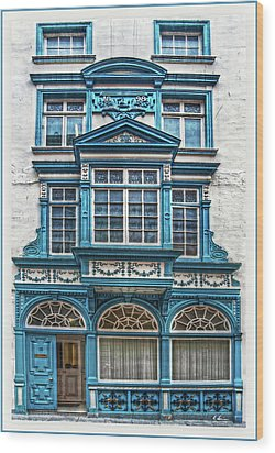 Wood Print featuring the digital art Old Irish Architecture by Hanny Heim