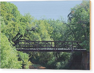 Wood Print featuring the photograph Old Iron Bridge Over Caddo Creek by Sheila Brown