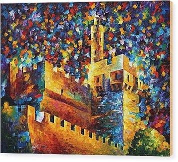 Old Jerusalem Wood Print by Leonid Afremov