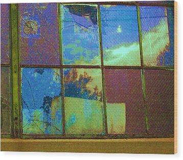 Old Lace Factory Window Wood Print by Don Struke