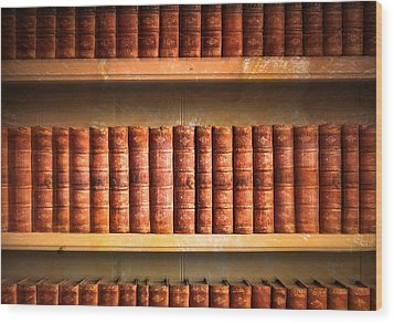 Old Library Wood Print by Tom Gowanlock