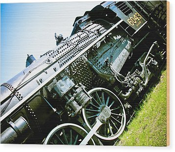 Old Locomotive 01 Wood Print by Michael Knight