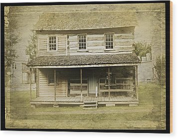 Wood Print featuring the photograph Old Log Cabin by Joan Reese