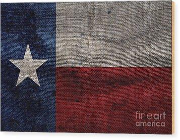 Old Lone Star Flag Wood Print by Jon Neidert