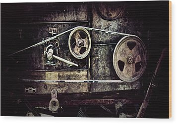 Old Machine Wood Print
