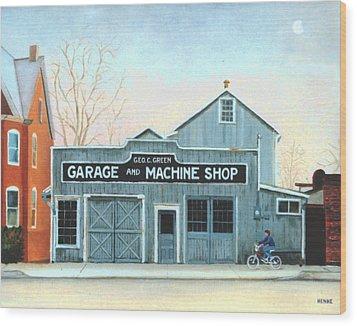 Old Machine Shop Wood Print