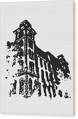 Old Main Building In Fayetteville Ar Wood Print by Amanda  Sanford