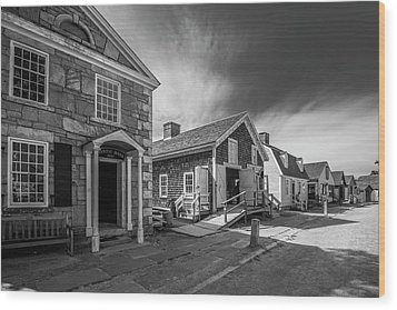 Old Main Street Wood Print by Steven Ainsworth