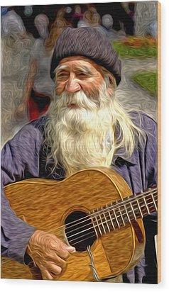 Old Man - 5 As Art Wood Print