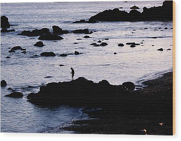 Wood Print featuring the photograph Old Man And The Sea by Jan Cipolla