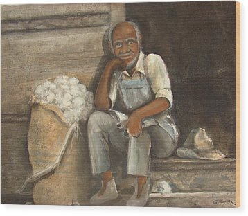 Old Man Cotton Wood Print by Charles Roy Smith