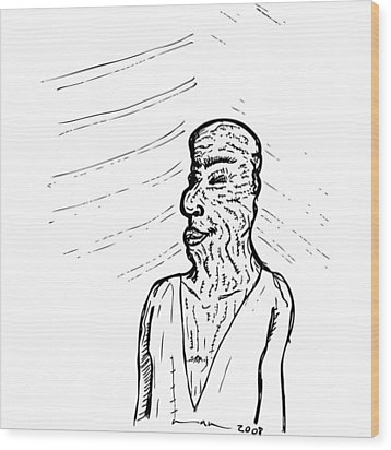 Old Man Wood Print by Karl Addison