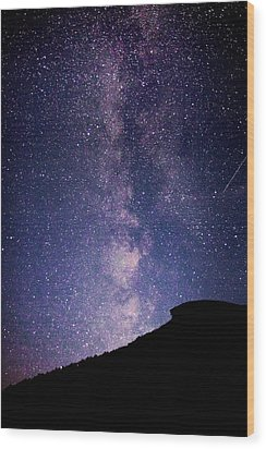 Old Man Milky Way Memorial Wood Print