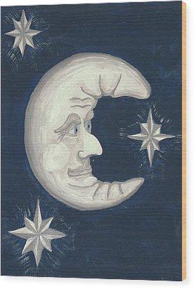 Old Man Moon Wood Print by Gordon Wendling