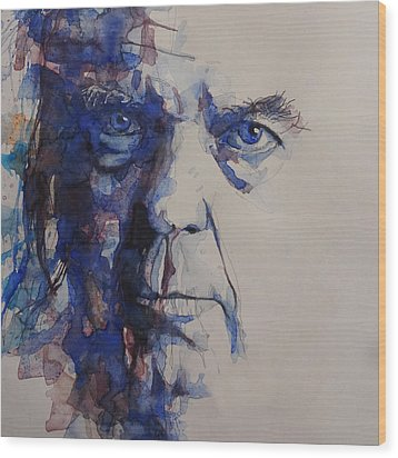 Old Man - Neil Young  Wood Print by Paul Lovering