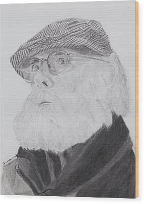 Old Man With Beard Wood Print by Quwatha Valentine