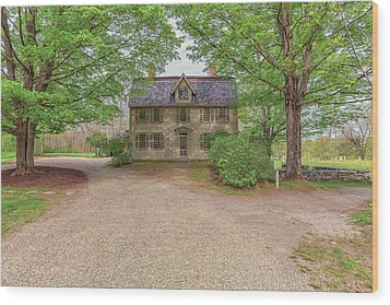 Old Manse Concord, Massachusetts Wood Print by Brian MacLean