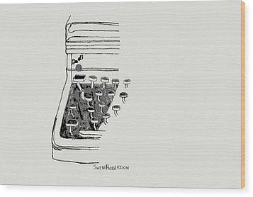 Old Manual Typewriter Wood Print by Sheri Buchheit